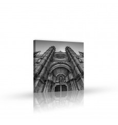 Tableau décoratif Concrete building L 45 x H 50 cm - intérieur design, décoration moderne, art abstrait VM241