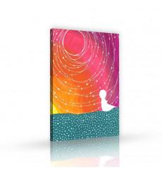 Tableau décoratif Dreamy sky L 60 x H 100 cm - intérieur design, décoration moderne, art abstrait EF243