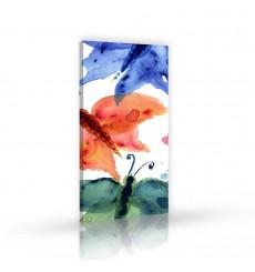 Tableau décoratif  Colored butterflies L 45 x H 100 cm - intérieur design, décoration moderne, art abstrait A244