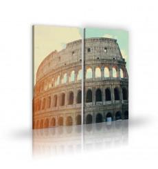 Tableau décoratif Rome Italy L 45 x H 100 cm - intérieur design, décoration moderne, art abstrait H255