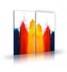 Tableau décoratif Watercolor background L 45 x H 100 cm (x2) - art moderne, intérieur abstrait design A268