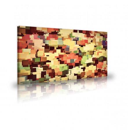 Tableau décoratif Square graphics L 100 x H 60 cm - art moderne, intérieur abstrait design A270