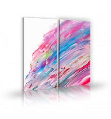 Tableau décoratif Blur stain L 45 x H 100 cm (x2) - art moderne, intérieur abstrait design A272