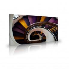 Tableau décoratif Purple Brown Spiral Straicase L 100 x H 60 cm - art moderne, intérieur abstrait design VM283