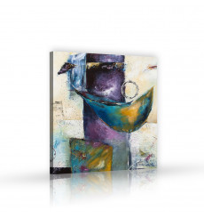 Tableau décoratif Modern abstract acrylic painting 100 x 100 cm - art moderne, intérieur abstrait design A285