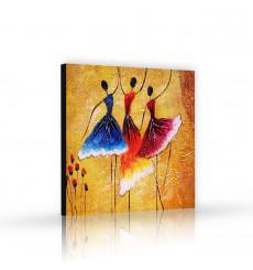 Tableau décoratif Spanish Dance L 100 x H 100 cm - art moderne, intérieur abstrait design A294