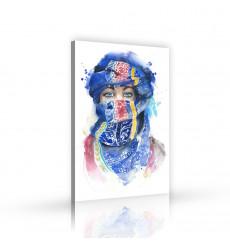 Tableau décoratif Girl wearing scarf L 60 x H 100 cm - art moderne, intérieur abstrait design, chambre A296