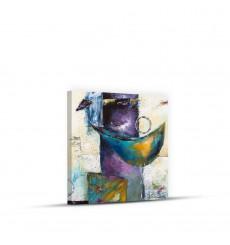 Tableau décoratif Modern abstract acrylic painting L 50 x H 45 cm - interieur décoration art moderne chambre mur A382