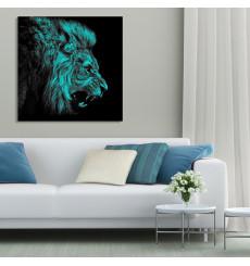 Tableau décoratif Mad lion L70 x H70 cm - intérieur design, décoration moderne, art abstrait