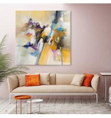 Tableau décoratif Multicolored abstract 100 x 100 cm -  intérieur design décoration moderne art abstrait A457