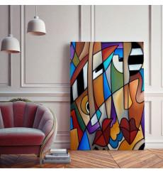 Tableau décoratif Piano men Painting L60 x H100 cm - intérieur design décoration moderne art abstrait