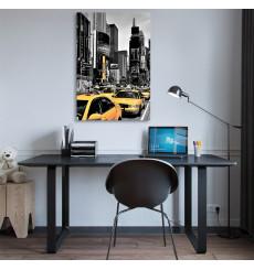 Tableau décoratif Yellow cabs L50 x H90 cm - intérieur design décoration moderne art abstrait