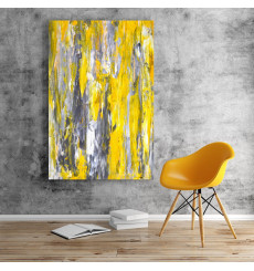 Tableau décoratif Abstract Grey & Yellow  L 60 x H 100 cm - interieur décoration art moderne A461