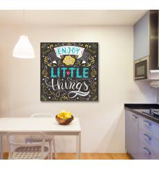 Tableau décoratif Little things 70 x 70 cm - intérieur design décoration moderne art abstrait
