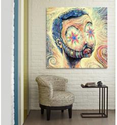Tableau décoratif Enlighten L 100 x H 100 cm - intérieur décoration art moderne