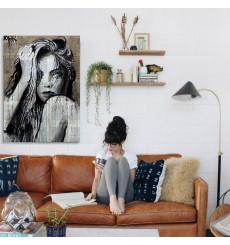 Tableau décoratif Rush drawing L60 x H100 cm - intérieur design art abstrait moderne