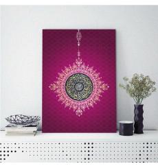 Tableau décoratif Calligraphy in purple L 60 x H 100 cm - interieur design abstrait art
