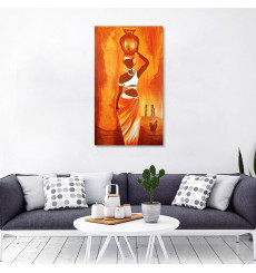 Tableau décoratif African woman L45 x H100 cm - intérieur design, décoration moderne, art abstrait