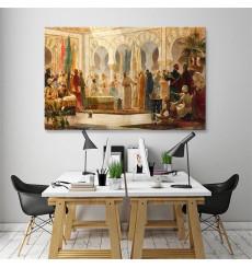Tableau décoratif Wise men L100 x H60 cm - intérieur design, décoration moderne, art abstrait A471