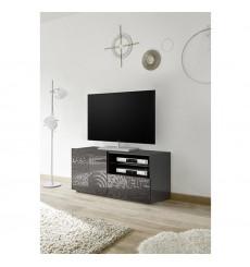 Meuble TV MIREL anthracite 1 porte, 1 tiroir