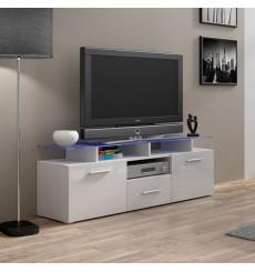 Meuble TV MIREL chêne 1 porte, 1 tiroir