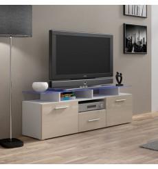 Meuble TV MIREL chêne 2 portes 1 tiroir