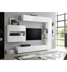 Ensemble meuble TV CELIO blanc 295 cm