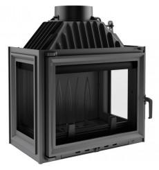 Insert cheminée à bois 3 côtés vitrés MASTER 10 kW