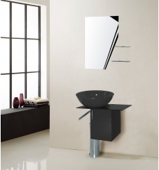 Meuble de salle de bain MANRESA, noir