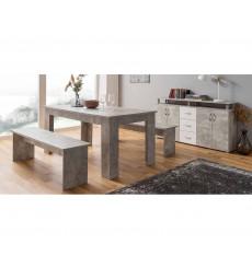 Table de salon MUNCH + 2 bancs
