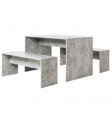 Table de salon BERLINO + 2 bancs