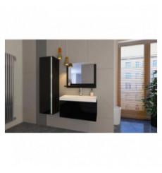 Meuble salle de bain EMERENCE Noir laqué