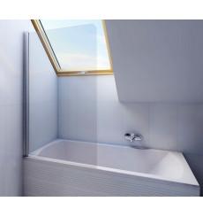 Baignoire rectangulaire avec Pare baignoire NERO 160/170 x 70 cm