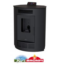 Poêle à pellet d'angle ESTE 9 kW noir