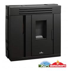 Poêle à pellet slim PILAR 9 kW noir