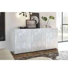 Buffet LUTHER en blanc 3 portes 181x84x42 cm