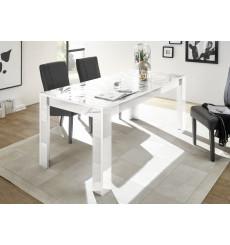 Table à manger extensible LUTHER en blanc 137-185x79x90 cm
