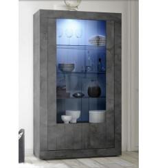 Vitrine SAMANTHA 2 portes anthracite 110x191 cm