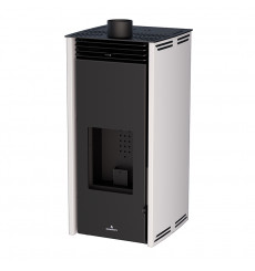 Poêle à pellet - SANS ELECTRICITE - FREE 6 kW couleur blanc