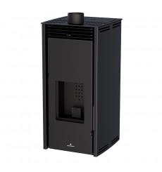 Poêle à pellet - SANS ELECTRICITE - FREE 6 kW couleur noire