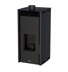 Poêle à pellet - SANS ELECTRICITE - FREE 11 kW couleur noire