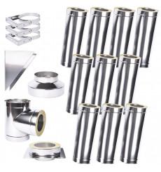 Kit conduit isolé 10m double paroi Ø 100/120/130/150/160/180/200 mm