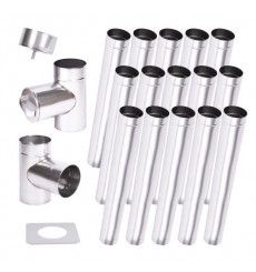 Kit conduit cheminée simple paroi de 15 m Ø 100/120/130/150/160/180/200 mm