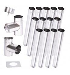 Kit conduit cheminée simple paroi de 13 m Ø 100/120/130/150/160/180/200 mm