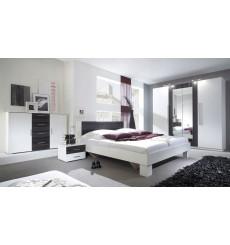 Chambre VERA 160x200 cm , blanc et noir