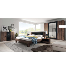 Chambre complète VERA 160x200 cm, Cognac