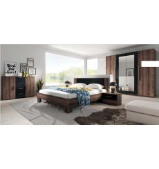 Chambre complète VERA 180x200 cm, Cognac