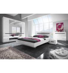 Chambre complète HEKTOR 160x200 cm en blanc
