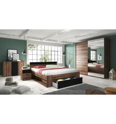 Chambre complète BETA cognac 160x200 cm