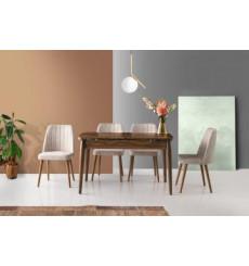 Ensemble table et 4 chaises Tina